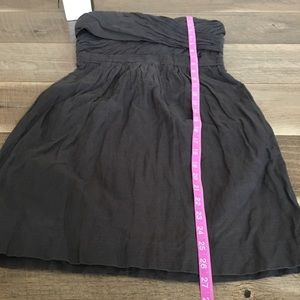 J. Crew Dresses - J. Crew strapless cocktail gray mini dress size 0